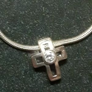 Follie Folli Silver cross necklace